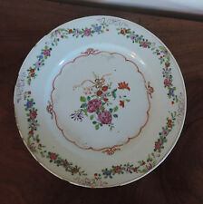 Antique 18th century Chinese Export Porcelain Plate Famille Rose Palette 1760