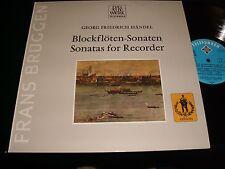 HANDEL°SONATAS FOR RECORDER  FRANS BRUGEN  Lp Vinyl  Germany Pressing  641 044