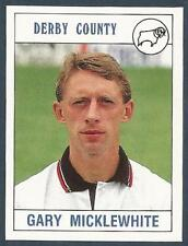PANINI FOOTBALL 90- #102-DERBY COUNTY-QUEENS PARK RANGERS-GARY MICKLEWHITE