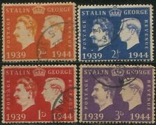 4 USED 1944 WWII Nazi Propaganda Stamp Ann. KGVI & Stalin High Quality REPLICA