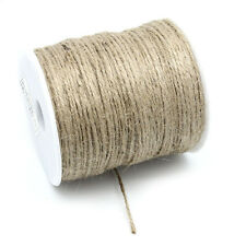 8SJ 1Roll Jute String Hemp Rope Brown For Jewelry Necklace Making DIY 2mm