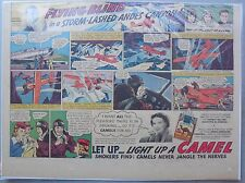 Camel Cigarette Ad: Johnny Wagner Aviation Test Pilot Half or Tabloid Page