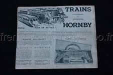 E139 Catalogue train Hornby 1935 1935 autorails ME 1 ME 2 flèche d'or bleu Dinky