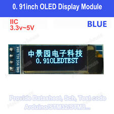 "Blue IIC I2C 0.91"" 128X32 Small OLED LCD Display Module for Arduino Uno 3.3V-5V"