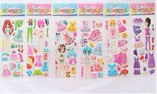 Wholesale!3D Action Figures Stereoscopic Children  Stickers-lot of 6 kids gift
