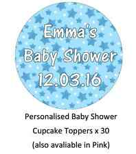 Baby Shower Christening Personalised Cupcake Toppers Edible Wafer Paper