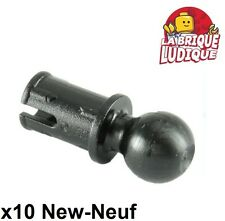 Lego technic - 10x Pin with Friction and Towball noir/black 6628 NEUF