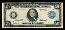 1914 $20 Large Size Federal Reserve Note Boston
