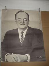 Hubert H Humphrey Large Black & White 22x28 Political Campaign Poster 1964 1968