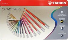 Stabilo CarbOthello x 48 chalk pastel crayon pencils color art dessin sketch lot