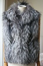 SCOOP NYC RACCOON FUR VEST GILET SMALL