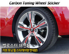 "Carbon Tuning Wheel Mask Sticker For Hyundai  Veloster [2011~on]  18"" only"