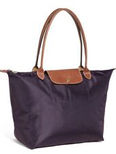 LONGCHAMP Le Pliage Nylon TOTE Shoulder Bag Large Purple size L New