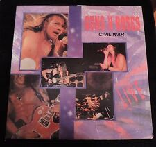 "RARE GUNS N' ROSES ""CIVIL WAR"" LIVE LP KOREAN IMPORT 12"" !!!"