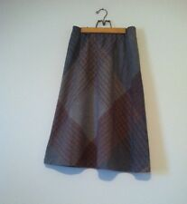 Vtg 70s 80s Plaid Schoolgirl High Waist Midi Skirt Grunge Revival Preppy