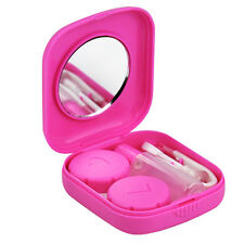 Pink Mini Contact Lens Travel Kit Case - Pocket Size New
