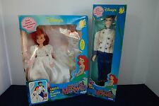 Disney Beautiful Bride Ariel and Prince Eric Doll - Vintage 1991 by Tyco