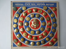 2324 – J – Complete Set of Official State Seal Uniform Buttons in Original Box