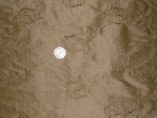 SILK DUPION EMBROIDERED FLORAL JACQUARD-GOLD-DRESS/BRIDAL FABRIC-FREE P&P