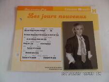 CARTE FICHE PLAISIR DE CHANTER CORINNE HERMES LES JOURS NOUVEAUX