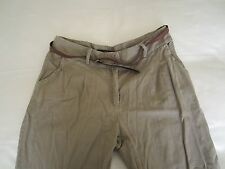 Miso Belted Chinos   Size: 14 , Stone