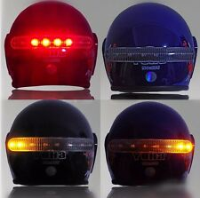 12V LED Motorcycle Helmet Turn Signal Stop Brake light For Harley Honda Kawasaki