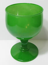 Funky Vintage Retro Green Glass Goblet