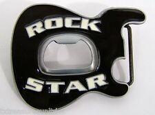 BELT BUCKLES men's music accessories ROCK STAR GUITAR BOTTLE OPENER buckle NWD!