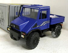 NZG 1/43 Scale 371 Mercedes Unimog U140 Tipper blue diecast model truck