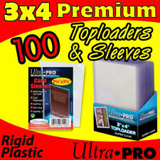 100 NEW SEALED ULTRA PRO PREMIUM TOP LOADERS + SLEEVES CARD STORAGE 81145-100-S
