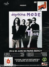 Publicité advertising 1993 Concert Depeche Mode Devotional Tour Paris Bercy