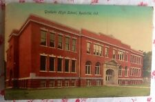 ~ Antique 1910 Postcard of Graham High School, Rushville, Indiana ~