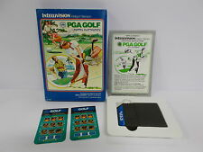 PGA GOLF INTELLIVISION MATTEL ELECTRONICS - BOXED RARE