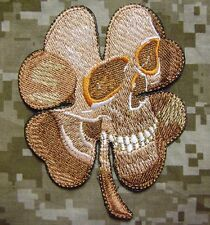 PIRATE SKULL CLOVER MILITARY USA ARMY MORALE TACTICAL ARID DESERT VELCRO PATCH