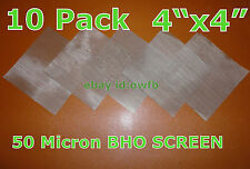 "(10 Count) 4""x4""- 50 Micron Stainless Sheets / 50u Mesh / 10 pcs. / 10 Pack"