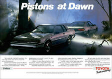 TOYOTA A60 CELICA LIFT BACK & COUPE RETRO POSTER A3 PRINT FROM 80'S ADVERT
