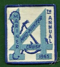 VINTAGE GIRL MARINER SCOUT PATCH - 1965 MARINER MID-WINTER CRUISE