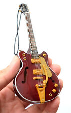 "Miniature Guitar The Beatles George Harrison 6"" Ornament Christmas SuperMini"