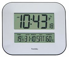 Jumbo LCD Radio Controlled Wall Clock with Temperature and Humidity display (...