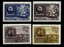 RUSSIA. Geographical Society of USSR. 1947 Scott 1094-1097. MNH (BI#NMBX)