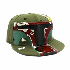 STAR WARS BOBA FETT COSTUME STYLED MANDALORIAN GREEN SNAPBACK CAP HAT *NEW*