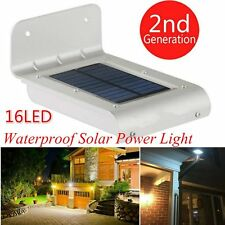 16 LED Solar Power Motion Sensor Security Lamp Outdoor Waterproof Light New LO#