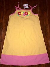 New Hanna Andersson Dress Size 150 colorful Flowers Orange Pink US 12
