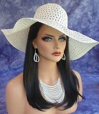 HUMAN HAIR BLEND WIG HEAT SAFE LACE FRONT CLR #1B EXQUISITE CLASSY US SELLER 229