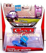 "Disney Pixar Cars Matthew ""True Blue"" McCrew der Dinoco Fan mit der King Fahne"