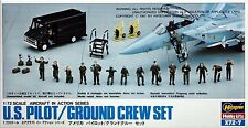 Hasegawa X72-7 US Pilot Ground Crew Set 1/72 from Japan Rare