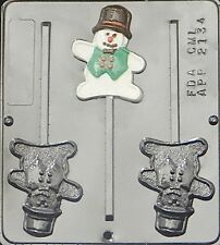 Snowman Lollipop Chocolate Candy Mold Christmas  2134 NEW