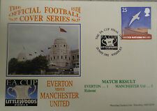 Football Postal Cover EVERTON v MANCHESTER UNITED F.A. CUP FINAL WEMBLEY 1995