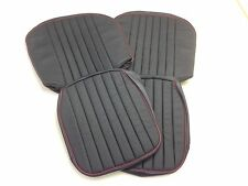 MGA LEATHER SEAT KIT BLACK/RED ROADSTER WITH MATCHING ARMREST