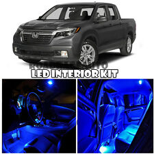 For 2006-2017 Honda Ridgeline Truck Full Interior LED Light bulb Kit (BLUE)